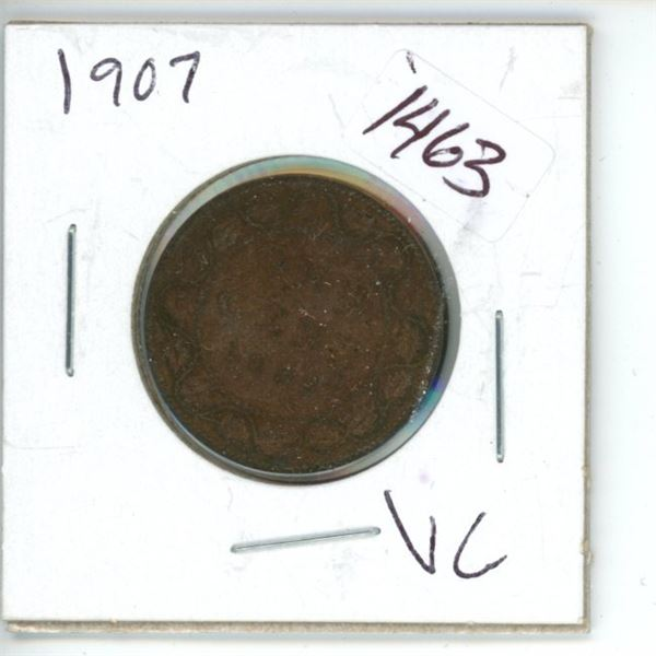 1907 Canadian 1 Cent Coin