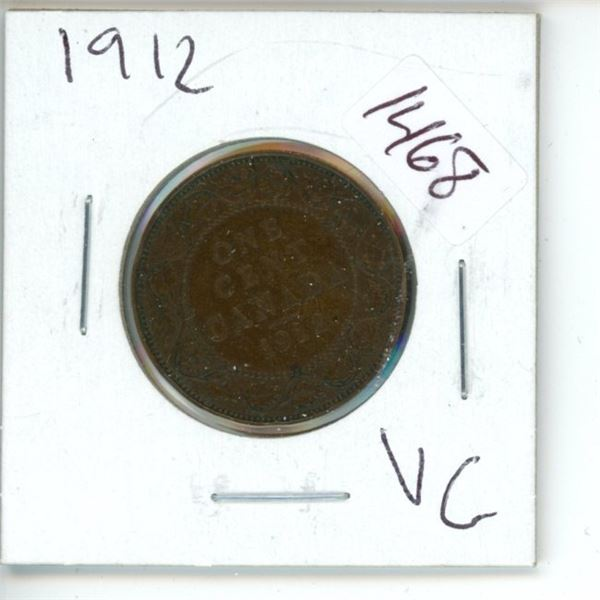 1912 Canadian 1 Cent Coin
