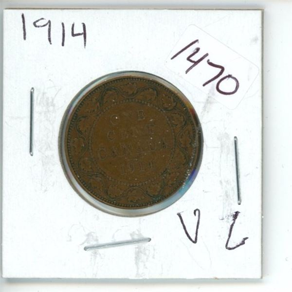 1914 Canadian 1 Cent Coin