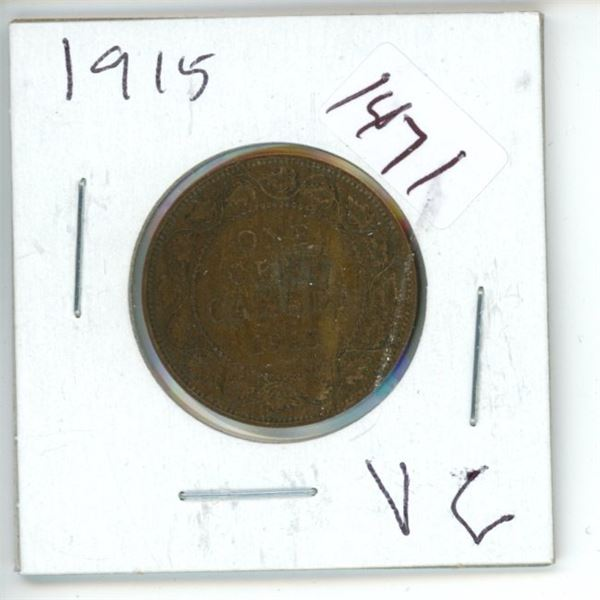 1915 Canadian 1 Cent Coin