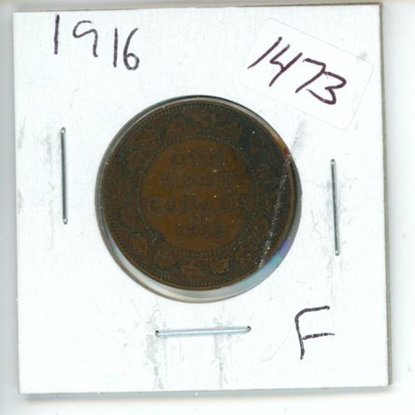 1916 Canadian 1 Cent Coin