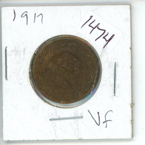 1917 Canadian 1 Cent Coin