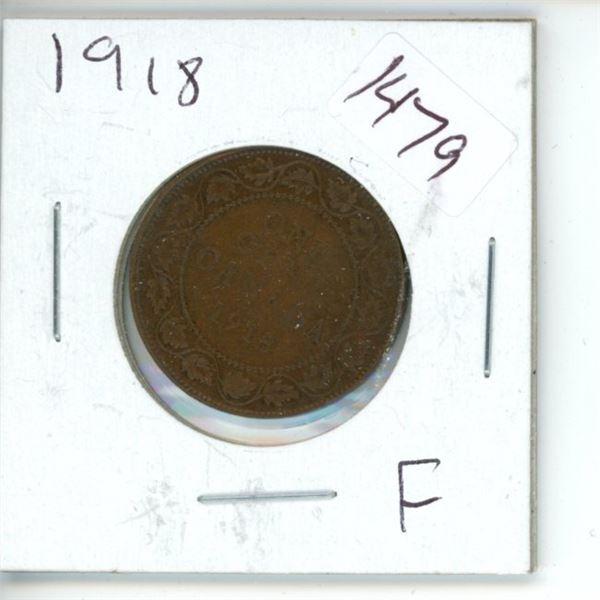 1918 Canadian 1 Cent Coin'