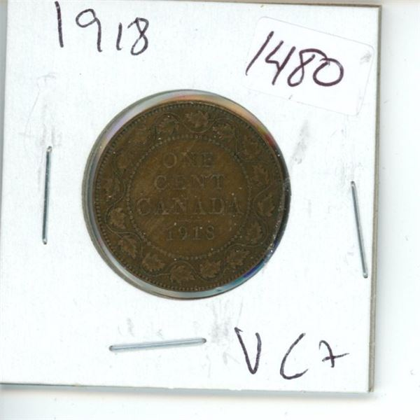 1918 Canadian 1 Cent Coin