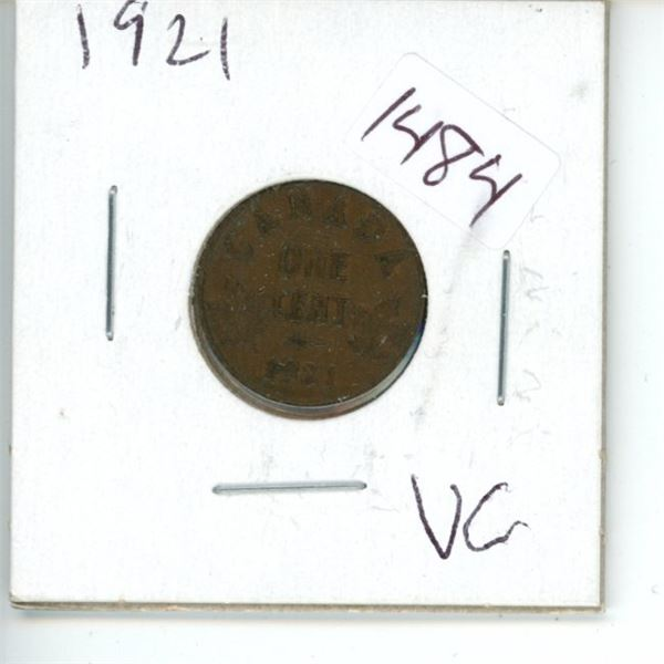 1921 Canadian 1 Cent Coin