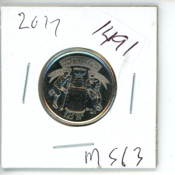 2015 Canadian 25 Cent Commemorative Coin - Stanley Cup