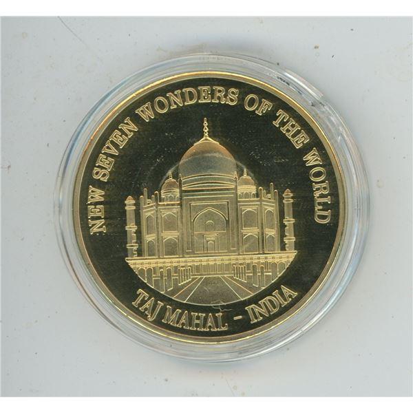 New 7 Wonders of The World Token - Taj Mahal 2007