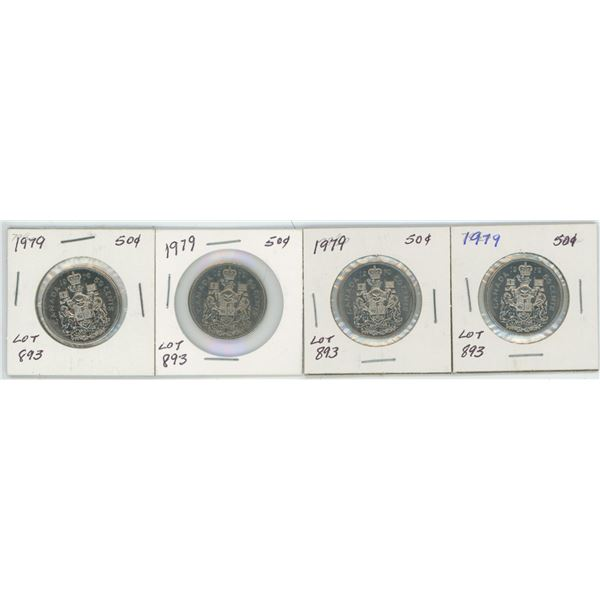 Lot of 4 1979 CAD 50 Cent Pcs.