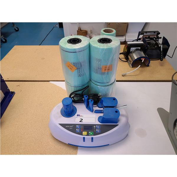 MINI AIR EASI ELECTRIC AIR PACKAGING SYSTEM WITH 6 ROLLS OF PLASTIC INFLATION BAGS