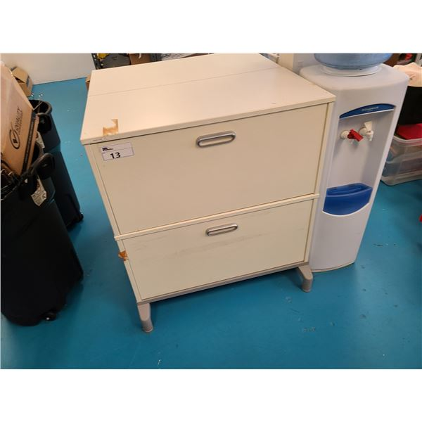 """WHITE 2 DRAWER 33""""W X 17""""D X 37""""H LATERAL FLOATING FILE CABINET"""