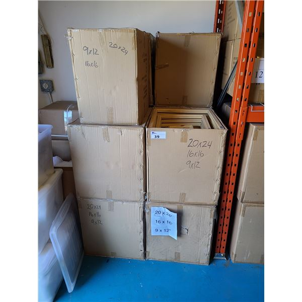 APPROXIMATELY 10 LARGE BOXES OF 20 X 24 / 16 X 16 / 9 X 12 ASSORTED NATURAL NEW ZEALAND PINE