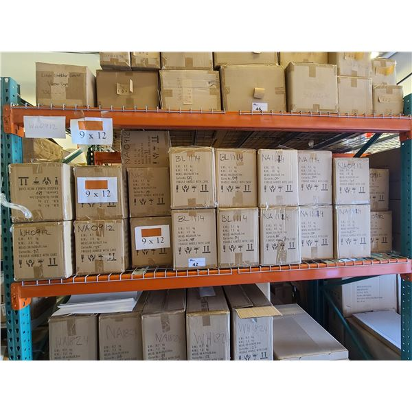 BAY OF APPROXIMATELY 15 BOXES OF 9 X 12 / 16 BOXES OF 11 X 14 ASSORTED NATURAL,