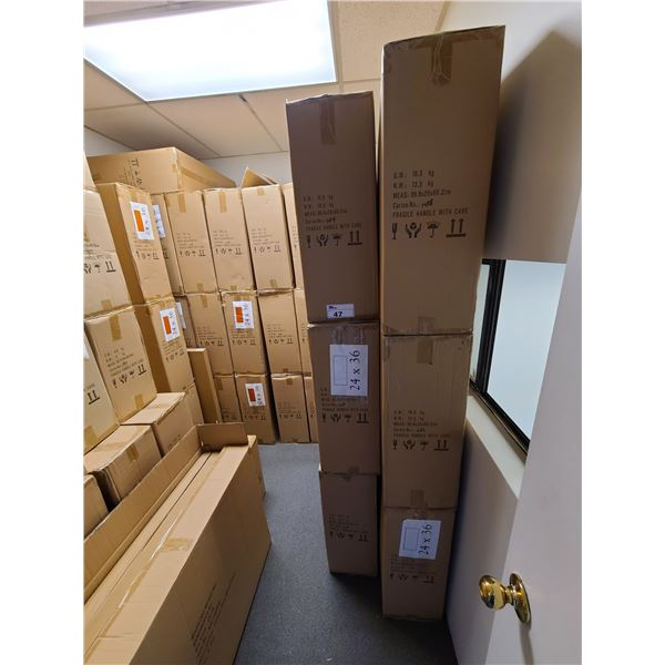 APPROXIMATELY 28 BOXES OF 24 X 36 ASSORTED NATURAL, WHITE, NEW ZEALAND PINE