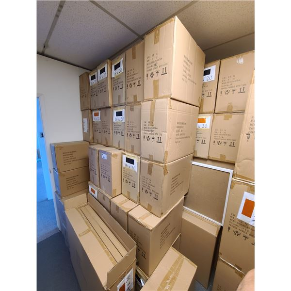 APPROXIMATELY 65 BOXES OF 16 X 20 ASSORTED NATURAL, WHITE, NEW ZEALAND PINE