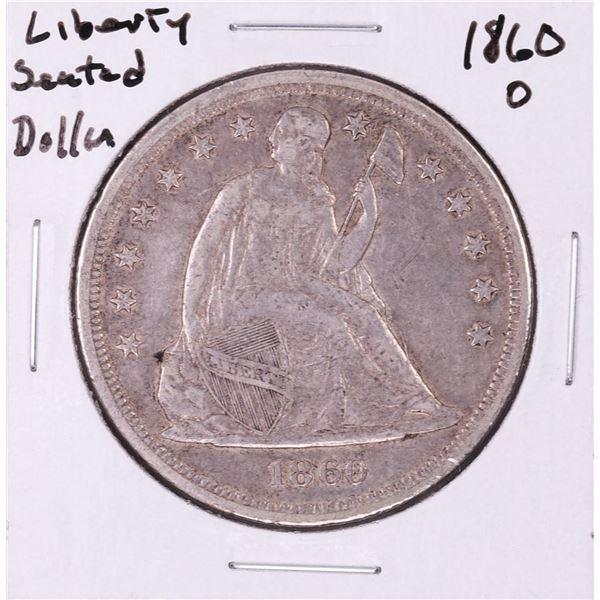 1860-O $1 Trade Silver Dollar Coin