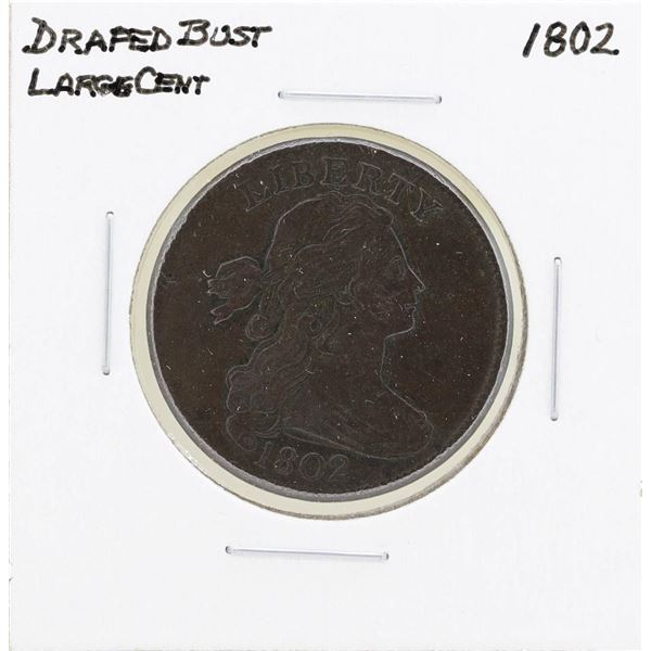 1802 Draped Bust Large Cent Coin
