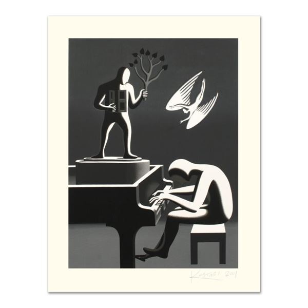 """Mark Kostabi """"Cyclone Variations"""" Limited Edition Serigraph on Paper"""