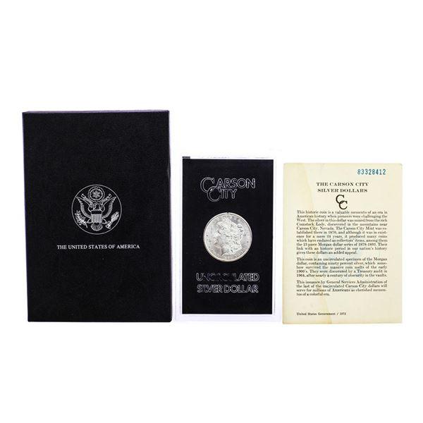 1883-CC $1 Morgan Silver Dollar Coin GSA Hoard Uncirculated w/Box & COA