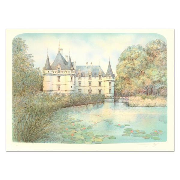 "Rolf Rafflewski ""Chateau Ii"" Limited Edition Lithograph on Paper"
