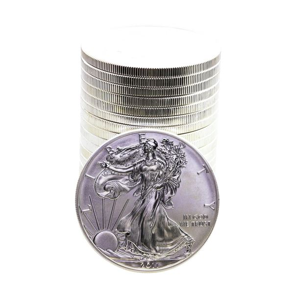 Roll of (20) Brilliant Uncirculated 2011 $1 American Silver Eagle Coins