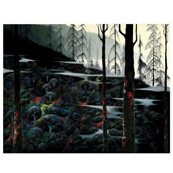 """Eyvind Earle (1916-2000) """"Dawns First Light"""" Limited Edition Serigraph on Paper"""