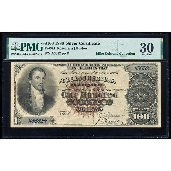 1880 $100 Silver Certificate Note Fr.341 PMG Very Fine 30
