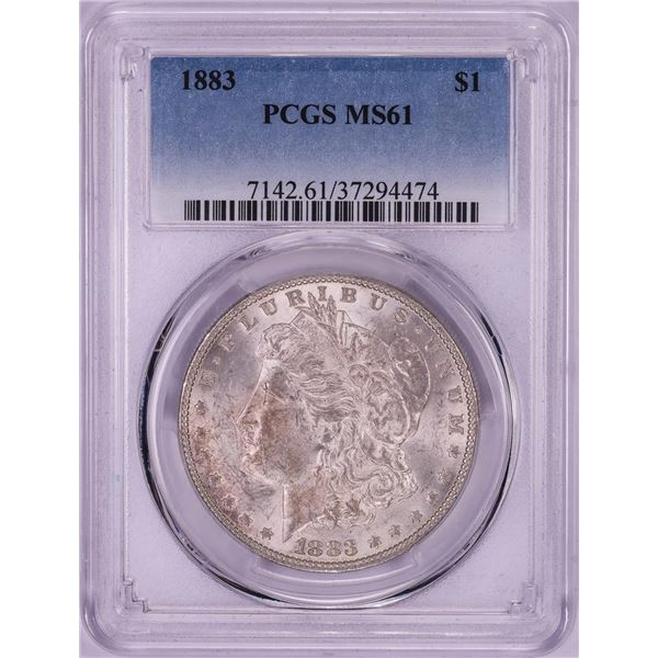 1883 $1 Morgan Silver Dollar Coin PCGS MS61