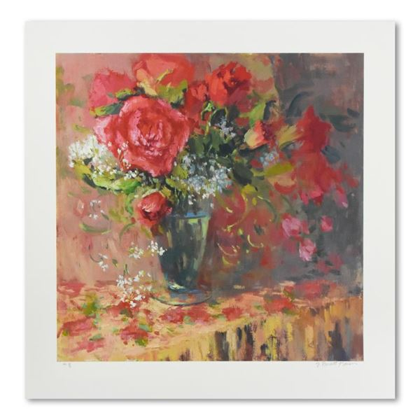 "S Burkett Kaiser ""Morning Petals"" Limited Edition Giclee on Paper"