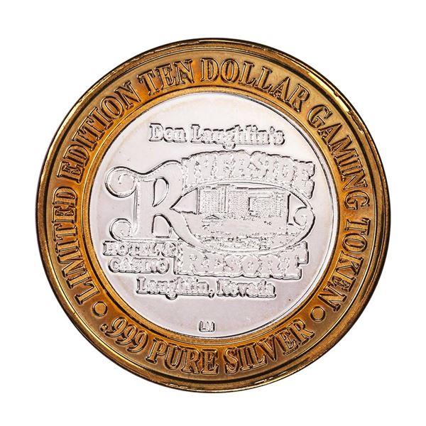 .999 Silver Riverside Resort Casino Laughlin, NV $10 Limited Edition Gaming Token