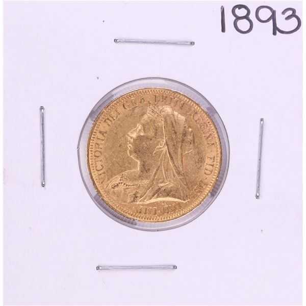 1893 Great Britain Sovereign Gold Coin