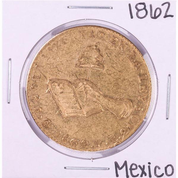 1862GoYE Mexico 8 Escudos Gold Coin