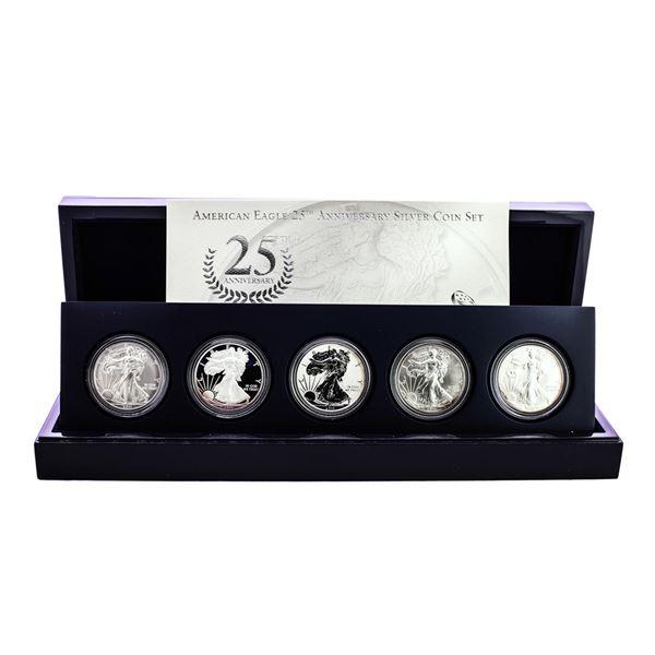 2011 American Silver Eagle 25th Anniversary Coin Set w/ Box & COA