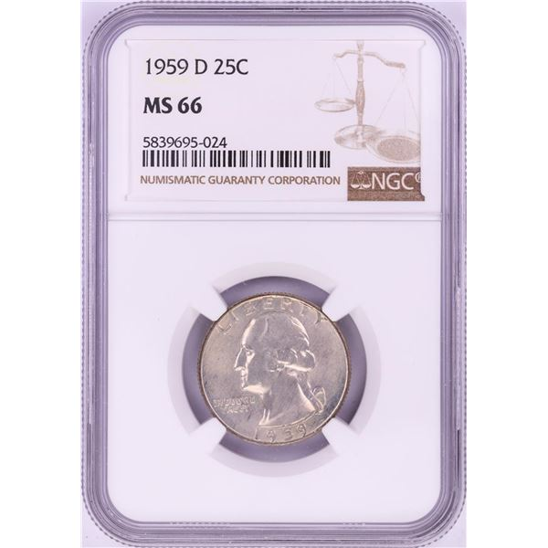 1959-D Washington Quarter Coin NGC MS66
