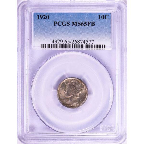 1920 Mercury Dime Coin PCGS MS65FB