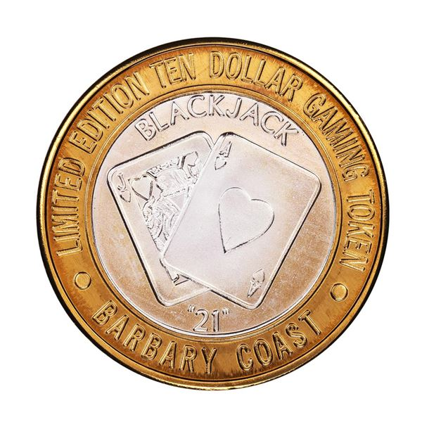 .999 Silver Barbary Coast Las Vegas, Nevada $10 Limited Edition Gaming Token