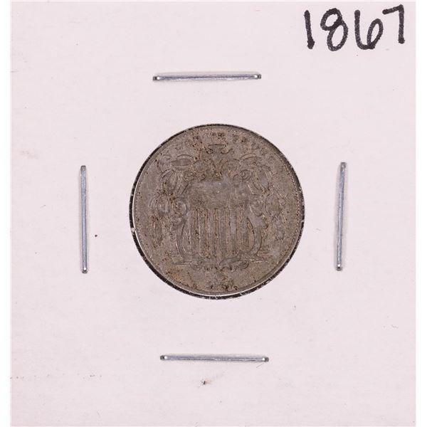 1867 No Rays Shield Nickel Coin