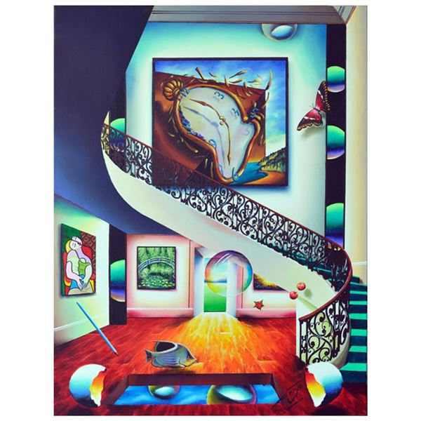 "Ferjo ""Dali of Great Import"" Original Oil on Canvas"