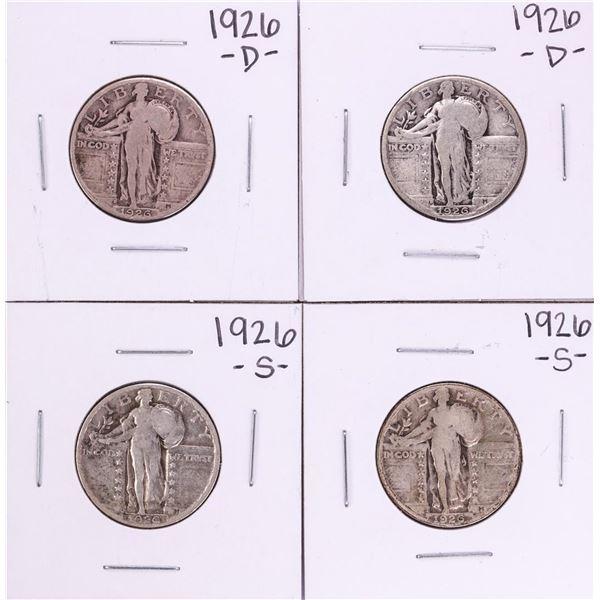 Lot of (2) 1926-S & 1926-D Standing Liberty Quarter Coins