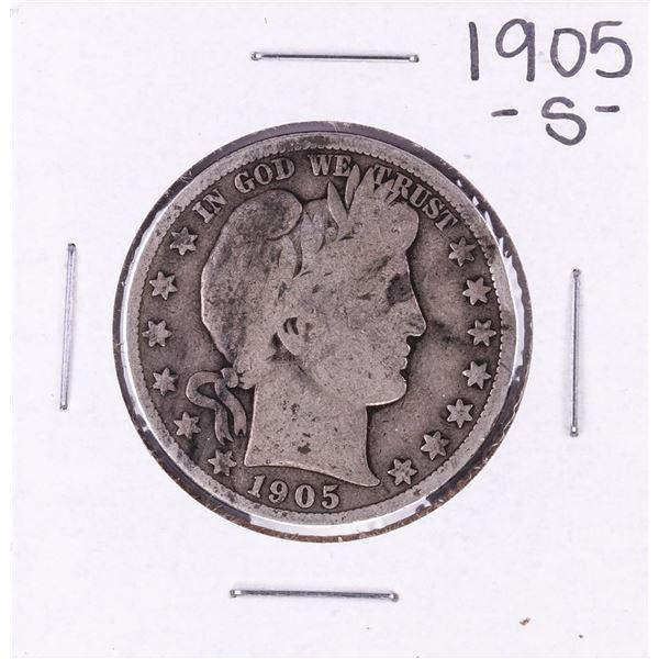 1905-S Barber Half Dollar Coin