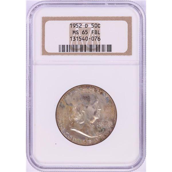 1952-D Franklin Half Dollar Coin NGC MS65FBL
