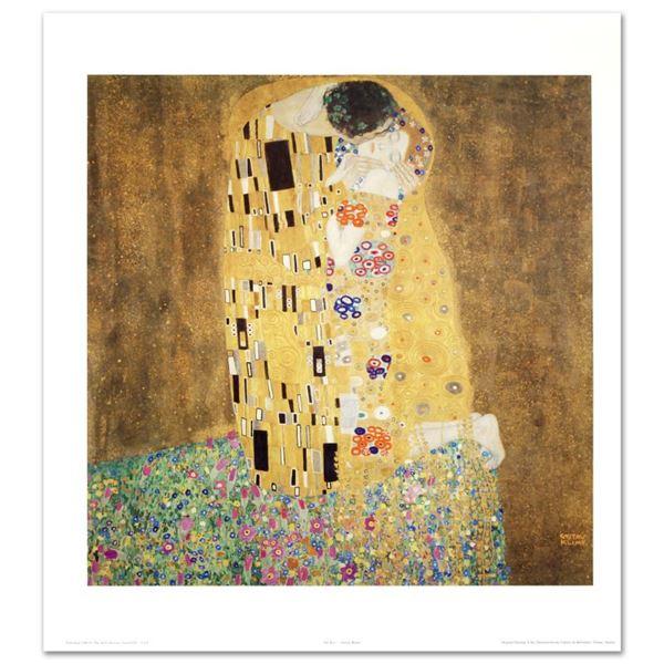 """Gustav Klimt (1862-1918) """"The Kiss"""" Print Poster on Paper"""