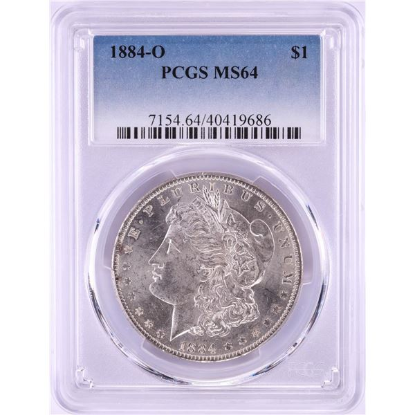 1884-O $1 Morgan Silver Dollar Coin PCGS MS64 Nice Toning