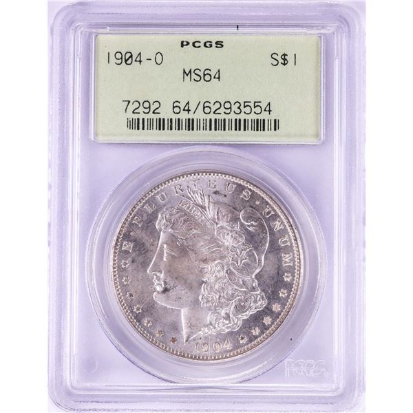 1904-O $1 Morgan Silver Dollar Coin PCGS MS64 Old Green Holder
