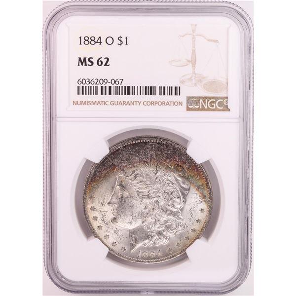 1884-O $1 Morgan Silver Dollar Coin NGC MS62 Nice Toning