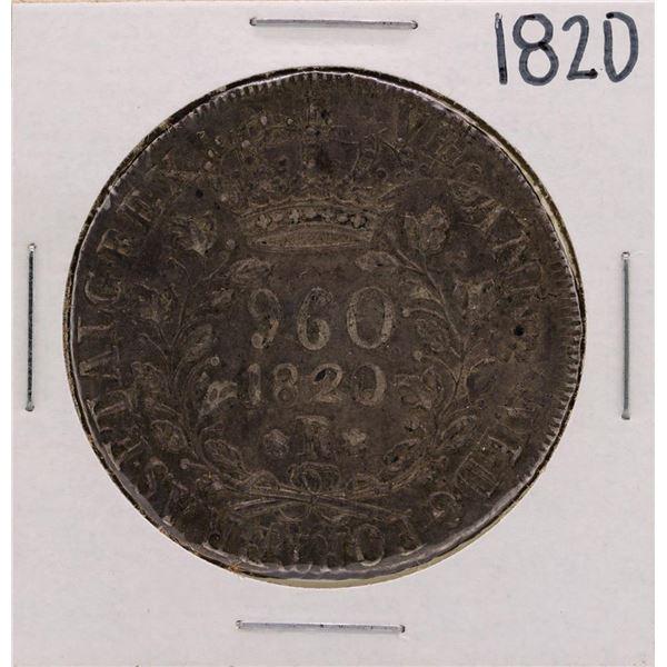 1820-R Brazil 960 Reis Silver Coin