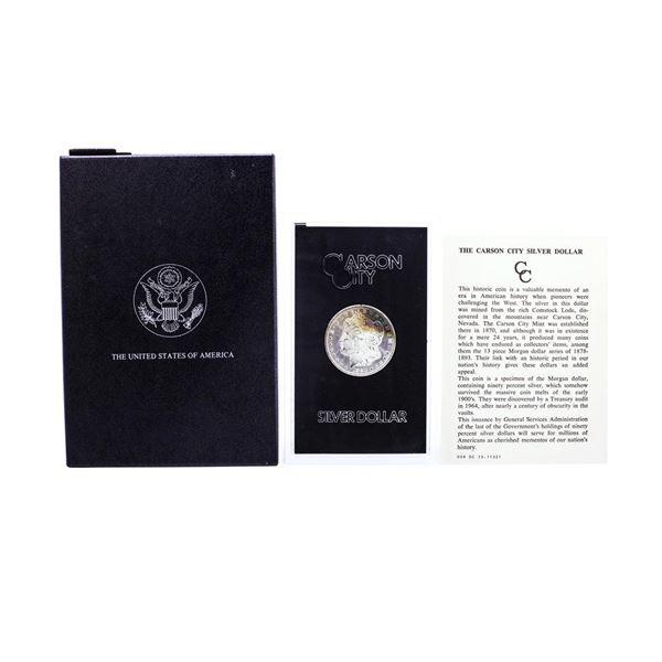 1880-CC $1 Morgan Silver Dollar Coin GSA Hoard w/Box Nice Toning