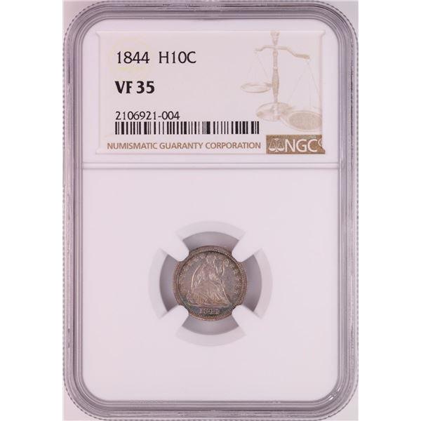 1844 Seated Liberty Half Dime Coin NGC VF35