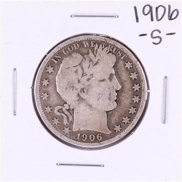1906-S Barber Half Dollar Coin