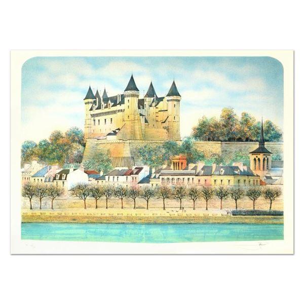"Rolf Rafflewski ""Chateau Iii"" Limited Edition Lithograph on Paper"