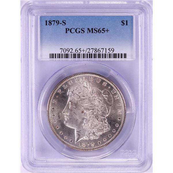 1879-S $1 Morgan Silver Dollar Coin PCGS MS65+ Nice Toning